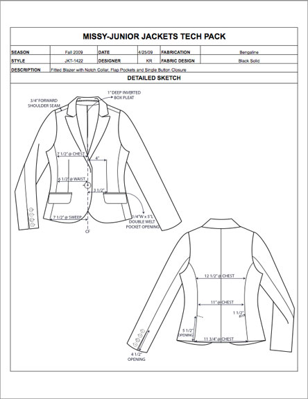 Fashion Apparel Tech Pack Templates - My Practical Skills | My ...